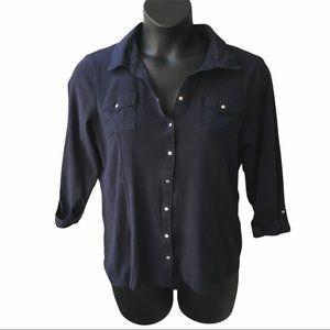 🌻2/$25 Karen Scott Button Down Shirt Size XL